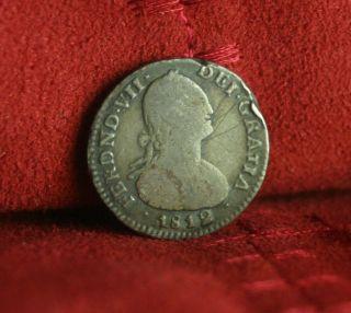 Colombia 1812 1 Real Silver World Coin South America Rare Nueva Granada photo