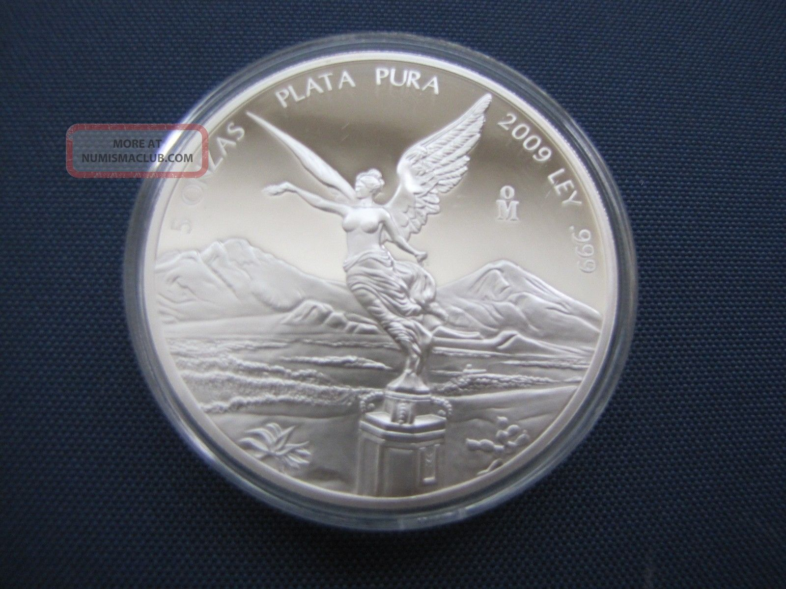 Libertad 2 oz .999 fine silver Proof Mexico 2009
