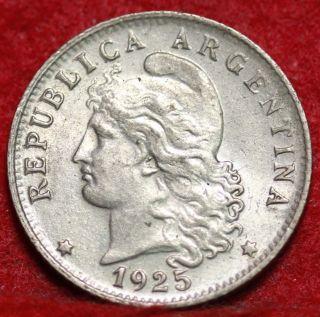 1925 Argentina 20 Centavos S/h photo