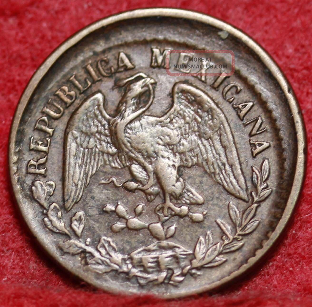 1901 - M Mexico 1 Centavo Off - Center Error Foreign Coin S/h Coins: World photo