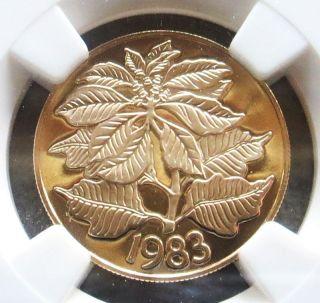 1983 Gold Panama 50 Balboas Christmas Poinsettia Coin Ngc Proof 69 Ultra Cameo photo