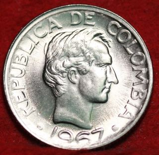 1967 Colombia 20 Centavos Foreign Coin S/h photo