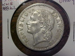1946 - B Open 9 France 5 Franc In Au Km 888a2.  99c photo