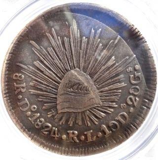 Mexico 8 Reales 1824 Do Rl Pcgs Vf35 photo