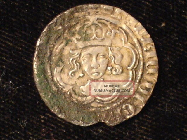 1327 - 77 Great Britain Silver Half Groat,  Edward Iii With Very Fine Details UK (Great Britain) photo