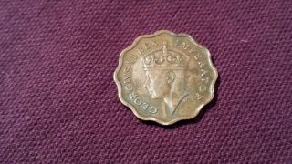 1944 Half Piastre Cyprus Coin Circulated,  Ungraded,  Uncertified photo