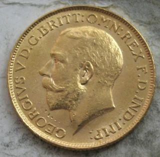 1915 S Australia Gold Sovereign Ch Gem Bu Photo