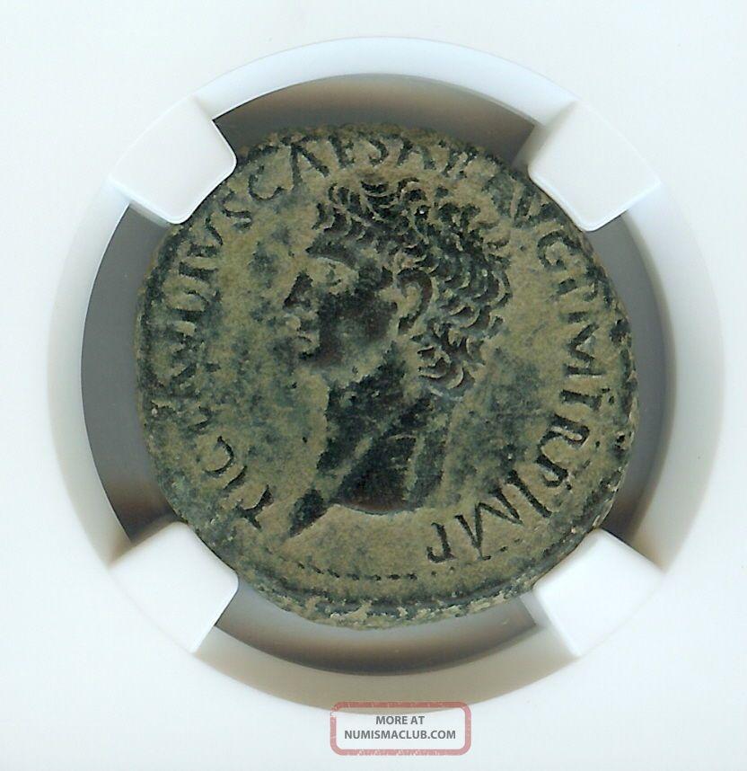 Claudius 41 - 54 A.  D.  Ae As - Rev.  Libertas/s C - (15.  73g) Ngc Ch Vf Coins: Ancient photo