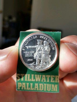 2004 Stillwater Lewis & Clark Palladium 10th Ounce Coin.  Johnson Matthey Assayed photo