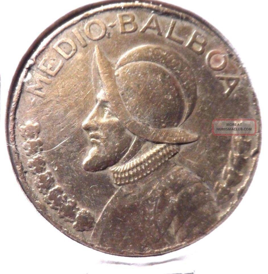 Circulated 1973 Medio - Balboa Panama Coin Europe photo