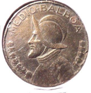 Circulated 1973 Medio - Balboa Panama Coin photo
