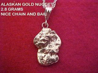 Gold Nugget Pendant 2.  8 Grams From Nome Alaskan Pendant Natural Gold Nugget photo