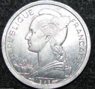Reunion Franc 1948 Africa World Coin (combine S&h) Bin - 612 photo