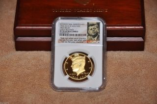 2014 - W 50th Ann.  High Relief Kennedy Gold Half - Dollar Proof Coin Ngc Pf70 Er photo