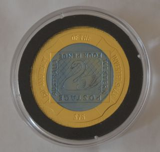 Inverted Swan Stamp $75 Gold Titanium - Rare - Proof Coin 2005 photo
