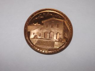 Vintage Mission San Luis Obispo De Tolosa Bronze Coin Token Medallic Art Co photo