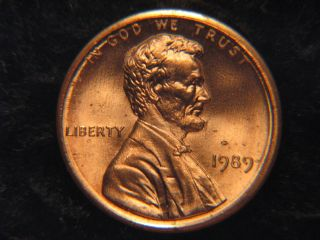 1989 Lincoln Memorial Penny Uncirculated photo