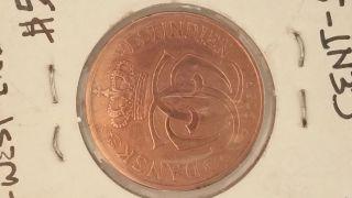 Danish West Indies Cent,  5 Bit,  1905 photo