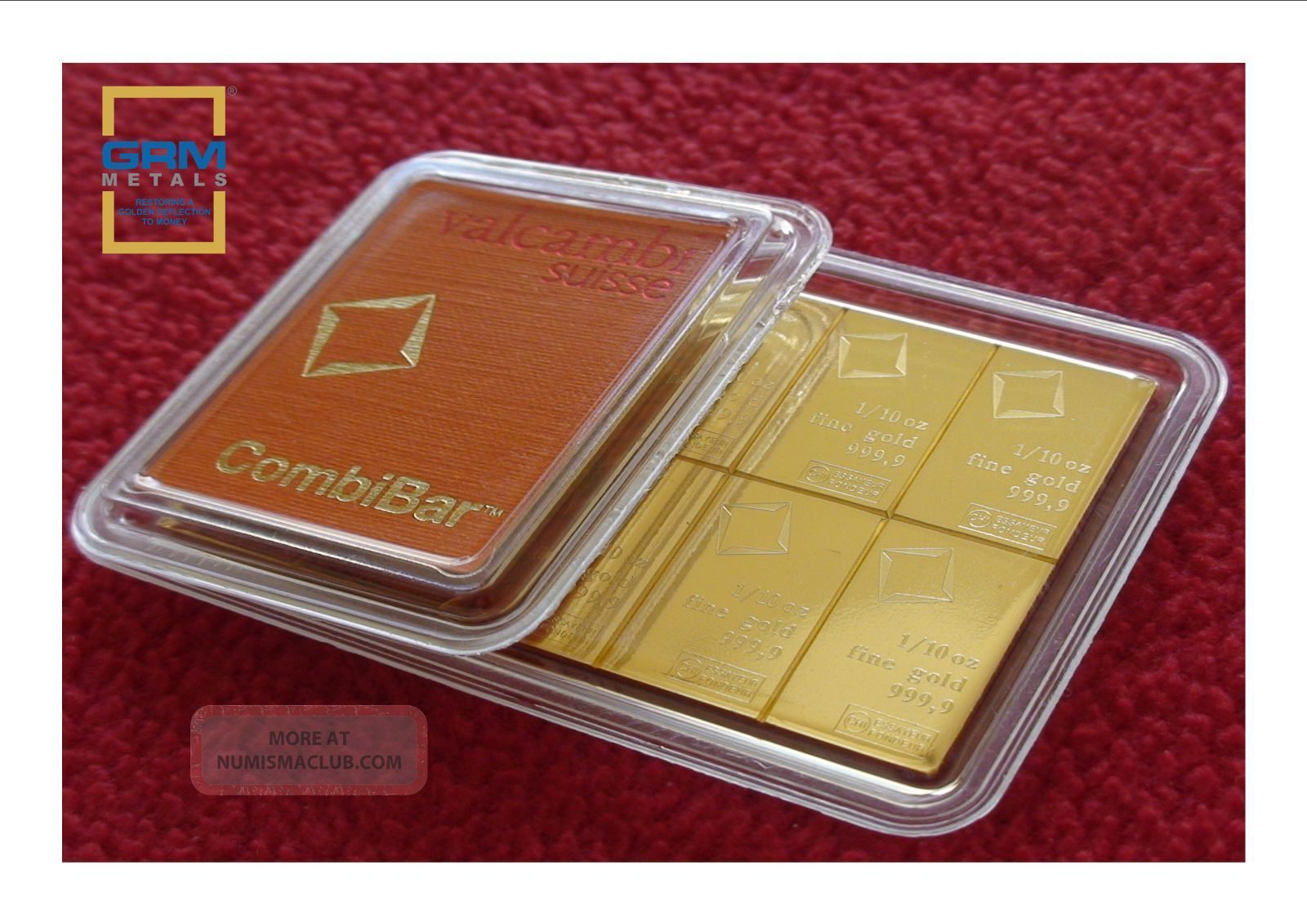 Valcambi Swiss Combibar 1 X 1 10th Ounce 999 Pure Gold