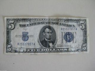 1934 D $5 Silver Certificate photo