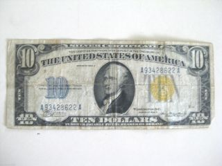 1934 A $10 Silver Certificate photo