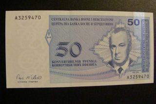 Bosnia And Herzegovina 50 Pfennig 1998 Crisp Unc photo