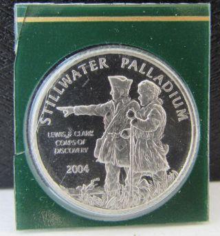 2004 Stillwater Lewis & Clark Buffalo 1/10 Oz.  999 Palladium Proof Bullion Coin photo
