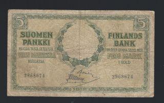 Finland 5 Markkaa 1909 (1918) Banknote photo