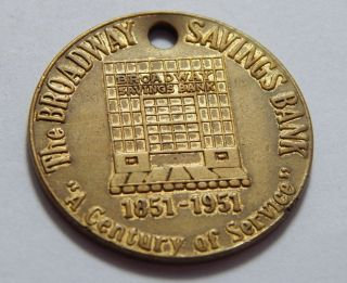 Vintage Nyc Ny Token - 1951 Broadway Savings Bank photo