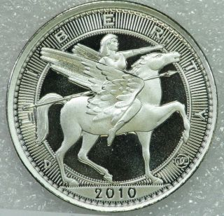 2010 Una 20 Ameros,  39mm 1oz.  999 Silver,  Proof - Like,  Reeded Edge,  Daniel Carr photo