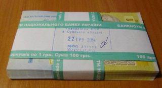 Ukraine 1 Hryvnia 2014 Hontareva Pick Bundle 100 Psc Unc photo