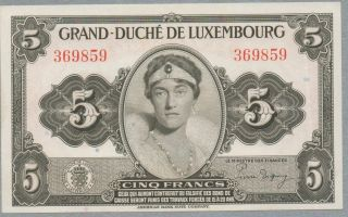 5 Francs Luxemburg Note,  N/d (1944),  Pick 43 photo