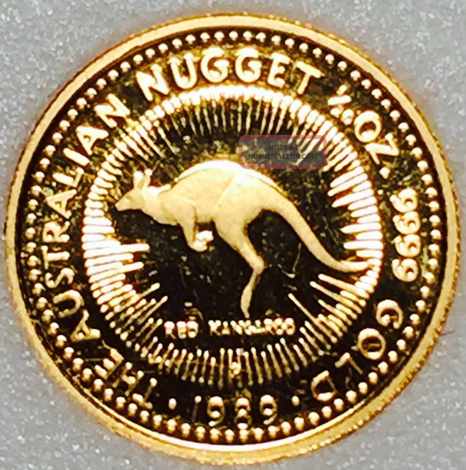1989 Australia Nugget Proof 1 20 Ounce 9999 Gold With Red