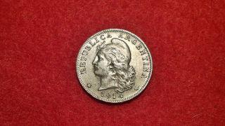 Argentina Coin,  20 Centavos,  1914,  Rare photo