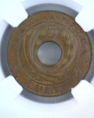 1941 I E.  Africa 5c Ngc Ms63 Bn Area Specific Period Piece photo