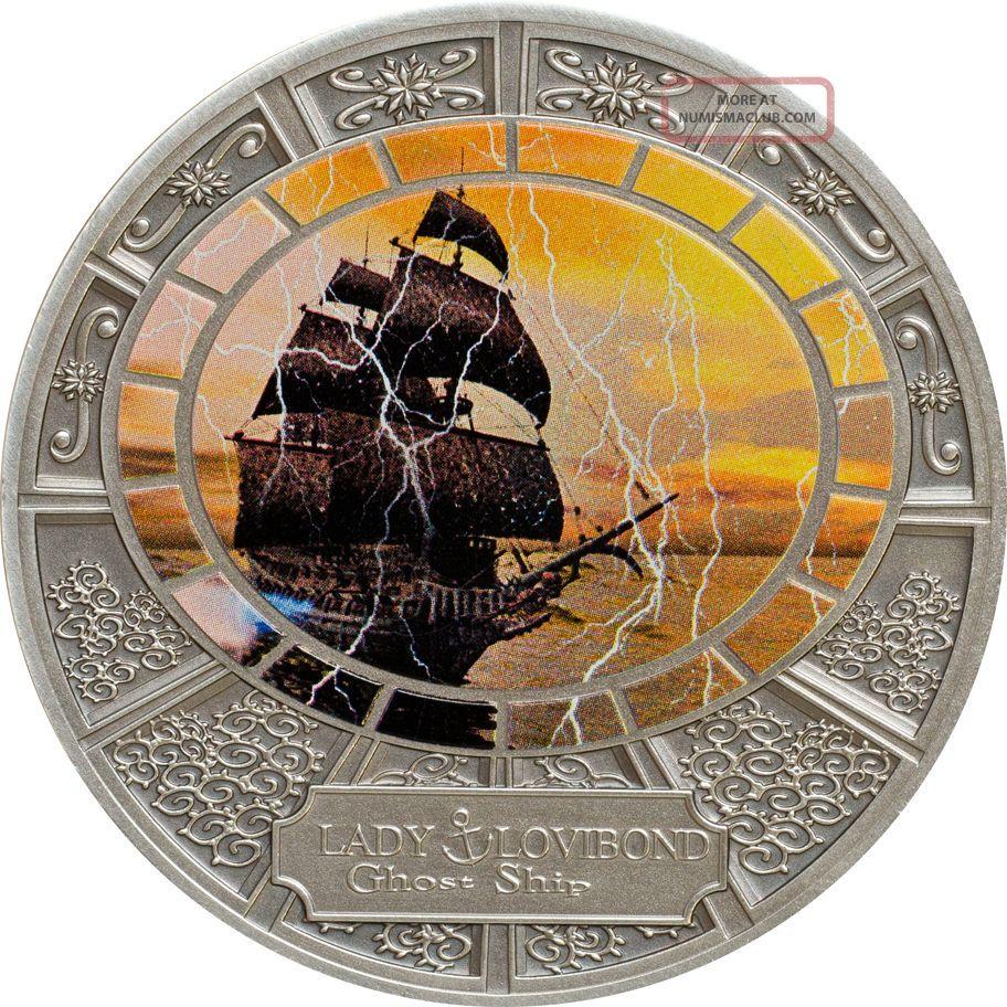"Tokelau 2015 5$ "" Ghost Ships - Lady Lovibond "" Silver. 925 20g"