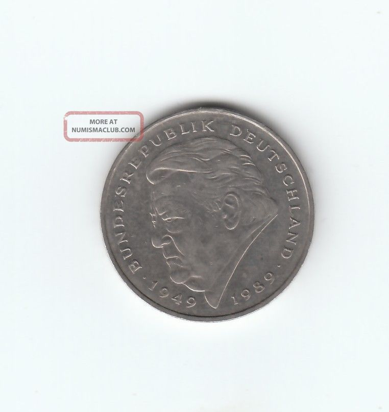 1974 Deutsche Mark 2 1990 Germany 2 Deutsche Mark d