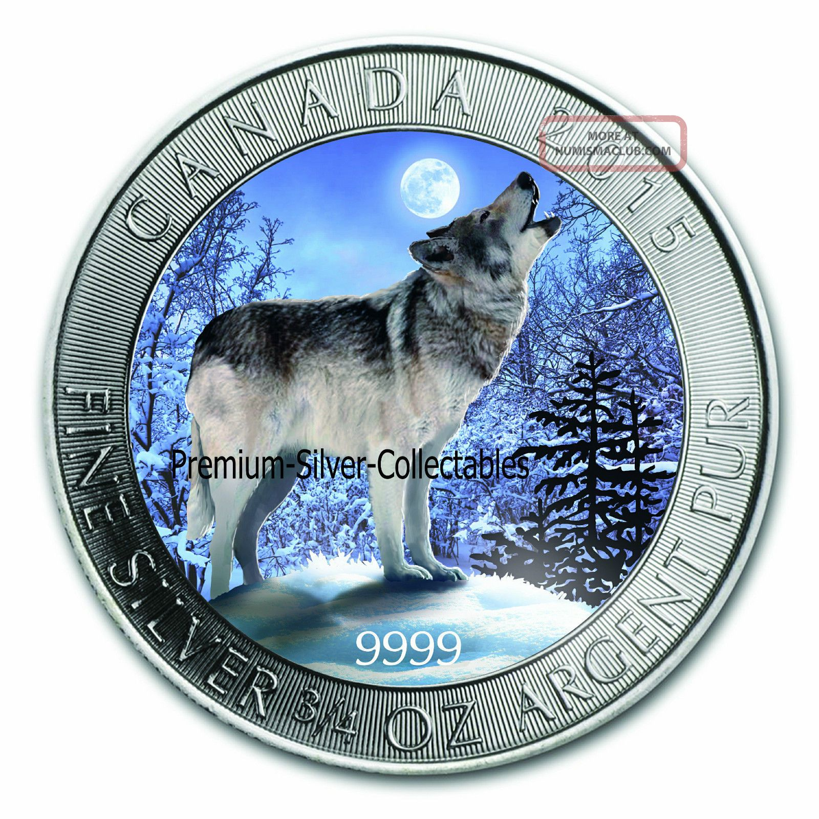 2015 Canada Howling Wolf Fractional Series 9999 3 4