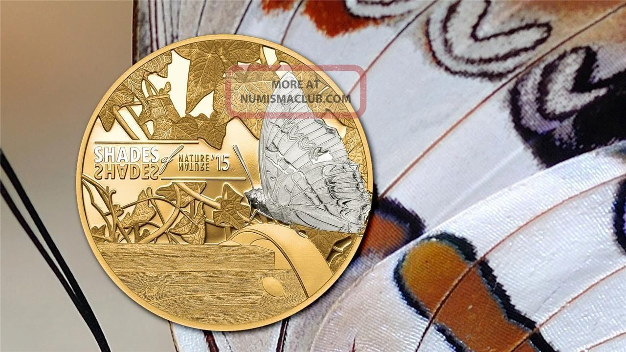 Cook Islands 2015 5 Shades Of Nature Butterfly Proof
