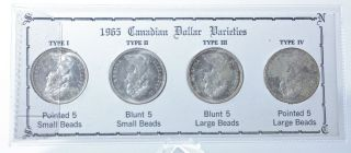 1965 Canadian Voyager Dollar Varities More Information Below - photo
