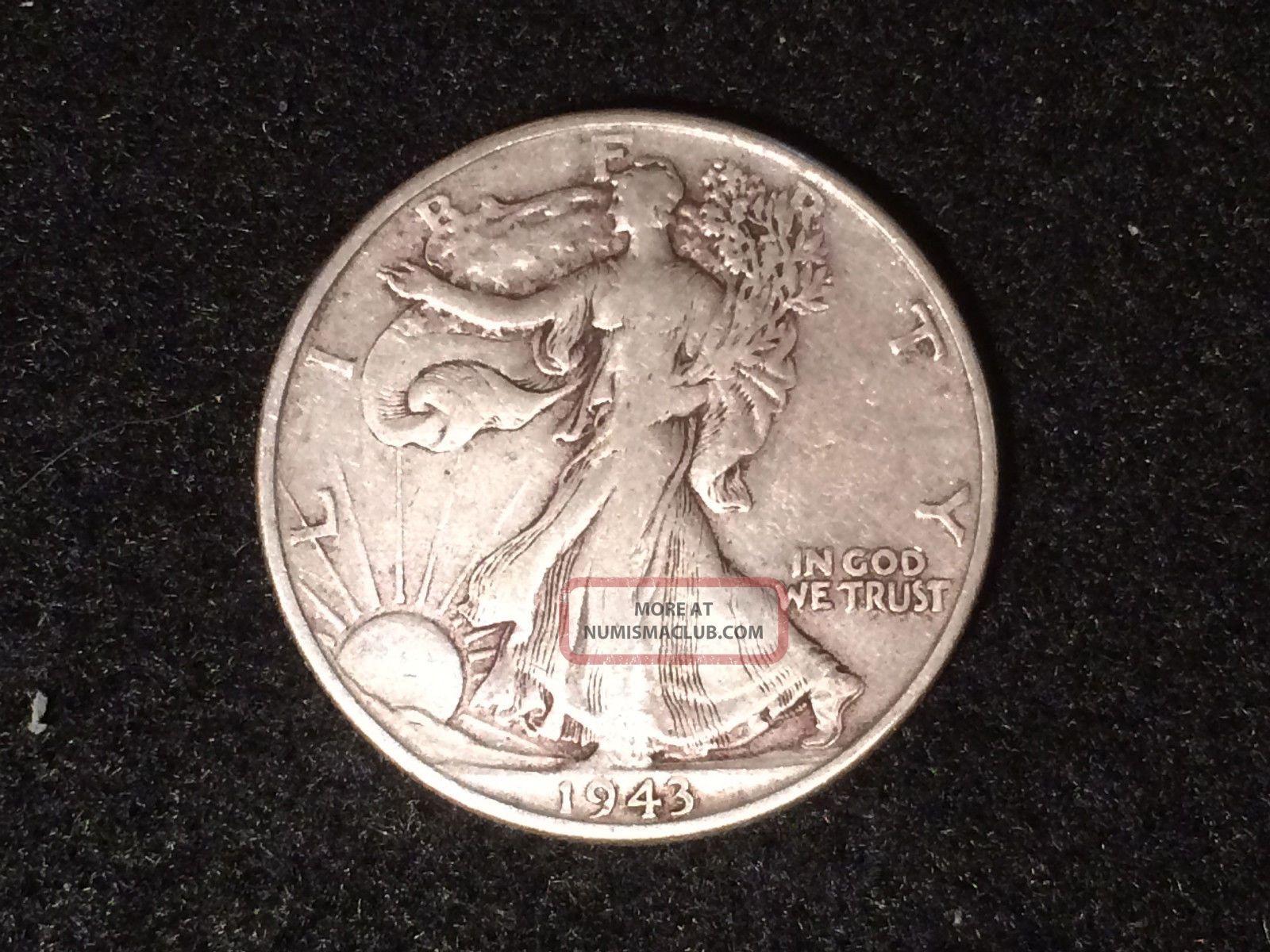 1943 P Walking Liberty Half Dollar 50c 90 90 Silver