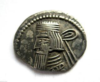 Circa.  100 - 50 B.  C Parthian Empire - Unresearched Ar Silver Drachma Coin.  Vf photo