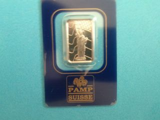 5 Gram Palladium Bar - Pamp Suisse (statue Of Liberty,  In Assay) photo