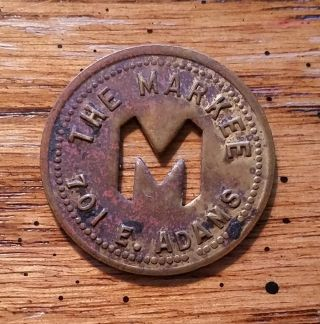 The Markee 701 E.  Adams Springfield,  Illinois Ill Il 10¢ Trade Token photo