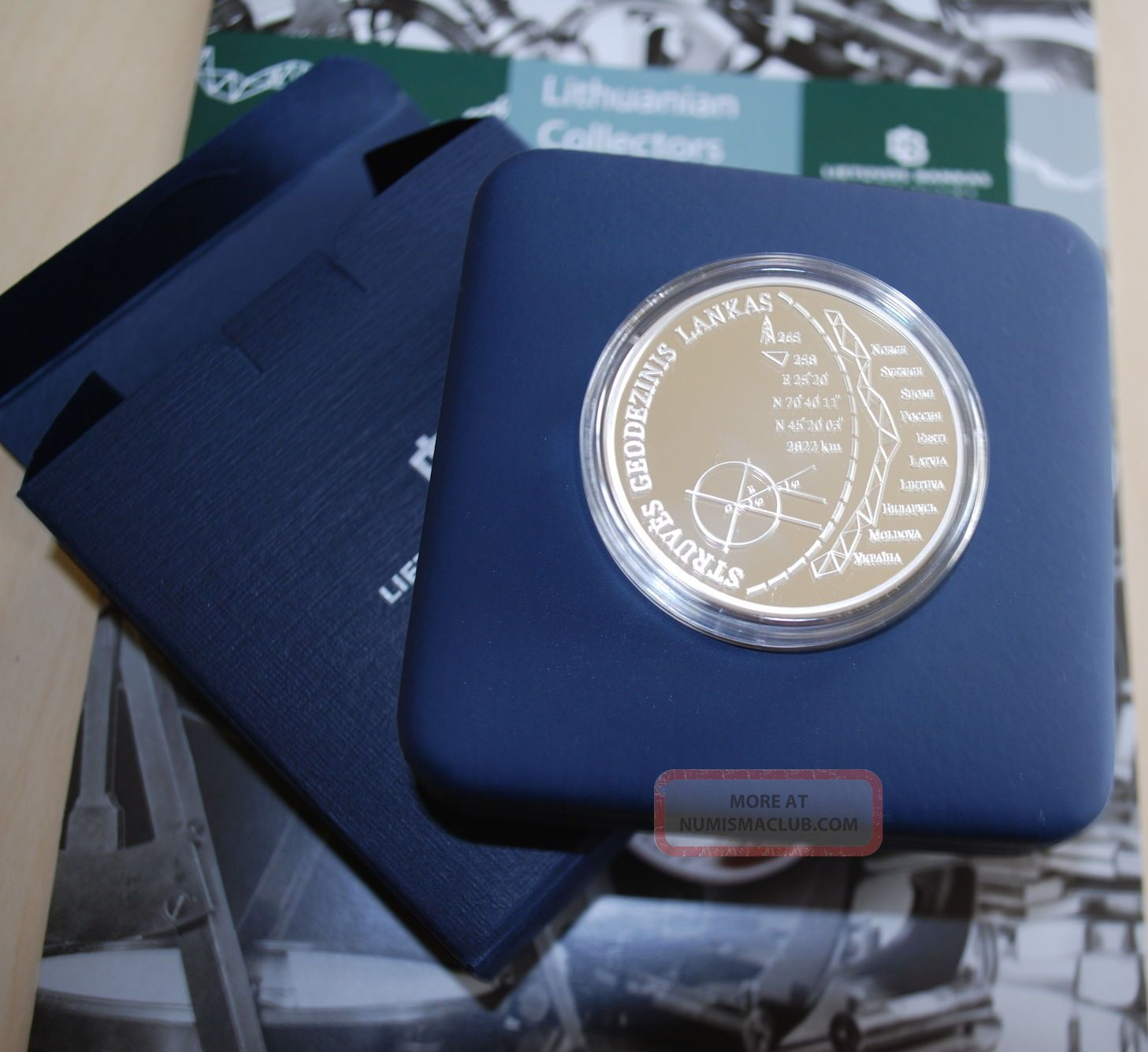 Struve Geodetic Arc Lithuania (unesco World Heritage) 20 Eurocsilver Proof Coin Europe photo