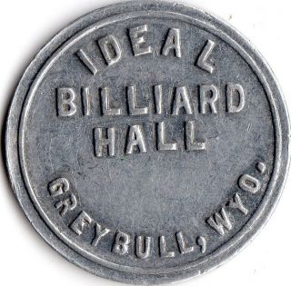 Greybull Wyoming Billiard Hall Good For Trade Token photo