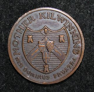 Masonic Penny - Mother Kilwinning - Nisi Dominus Frustra - 25mm photo