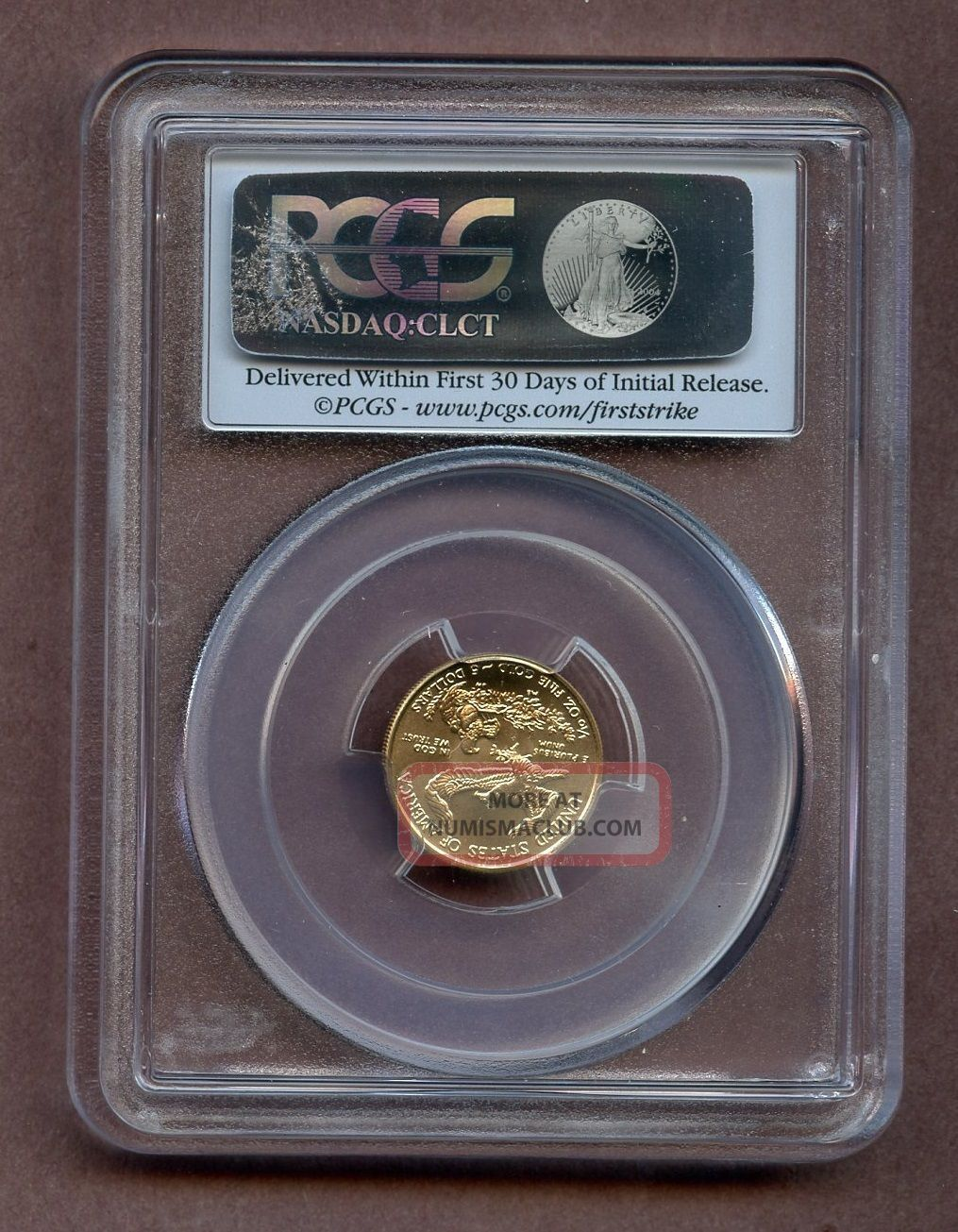 2015 Pcgs Ms70 Gold Eagle Narrow Reeds 5 Gold Coin
