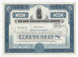 Gray Manufacturing Company Stock Certificate photo