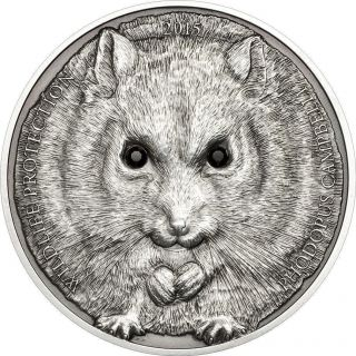 Mongolia 2015 500 Togrog Wildlife Protection Campbell ' S Hamster 1 Oz Silver Coin photo